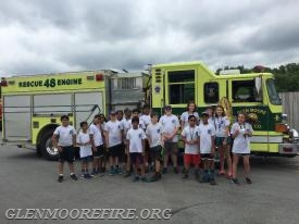 Junior Police Academy Cadets (with Engine 48-1)