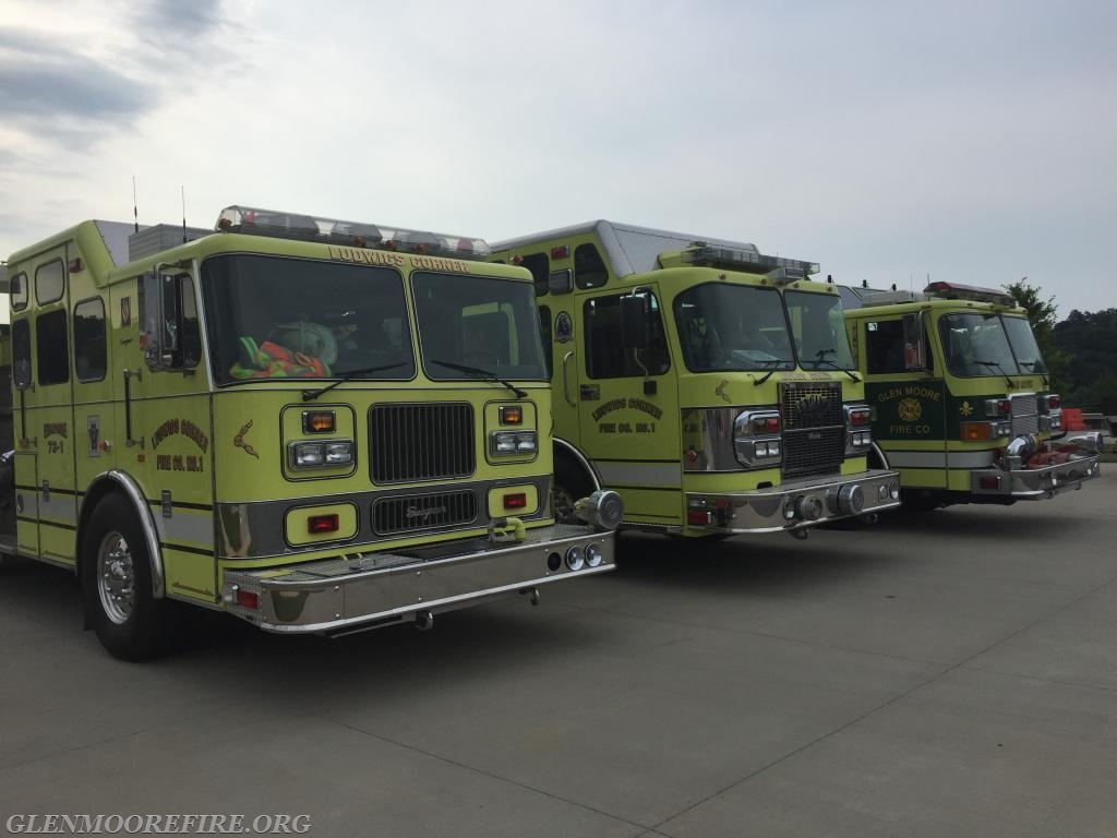 Apparatus from stations 73 and 48 ready to go!