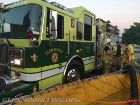Engine 48-5 pump operators supplying the water.