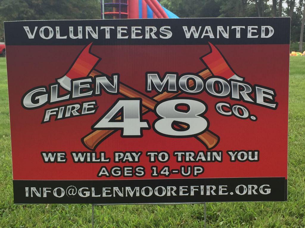 We are always looking for volunteers.
