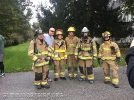 Glen Moore Firefighters with DES Deputy Director Beau Crowding