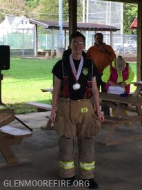 Junior Firefighter Nick DiPaolo collected two medals.