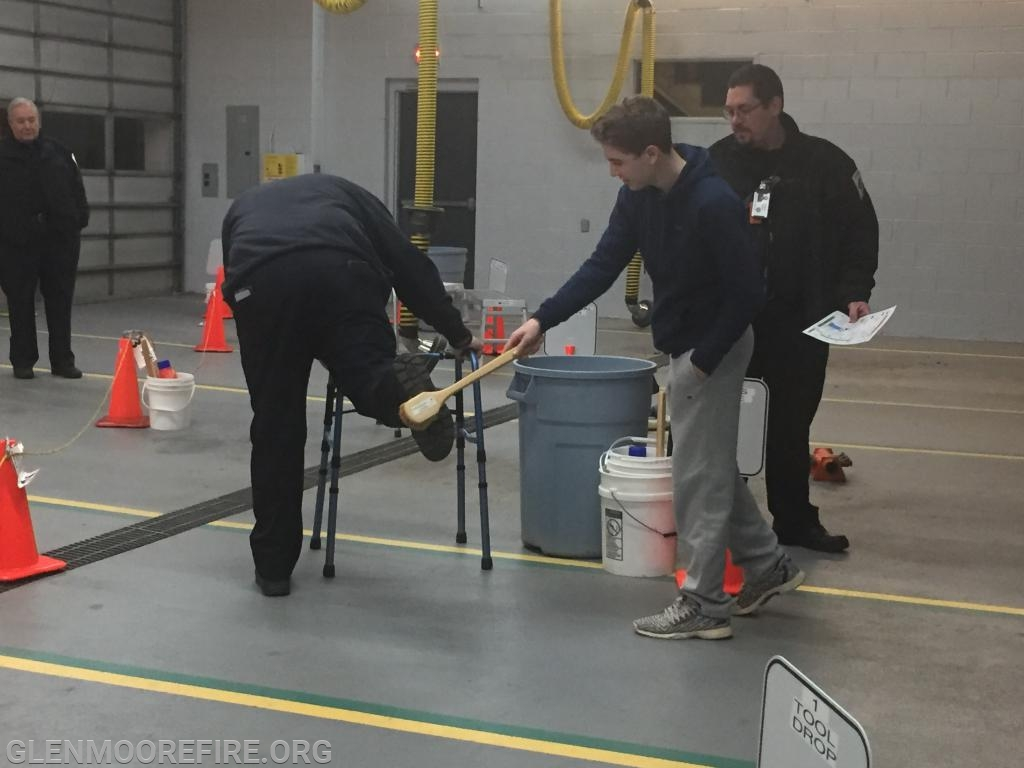 Demonstrating part of the decon process