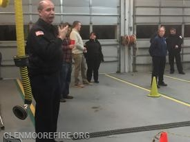 Chief Sullivan reviewing the decontamination line.