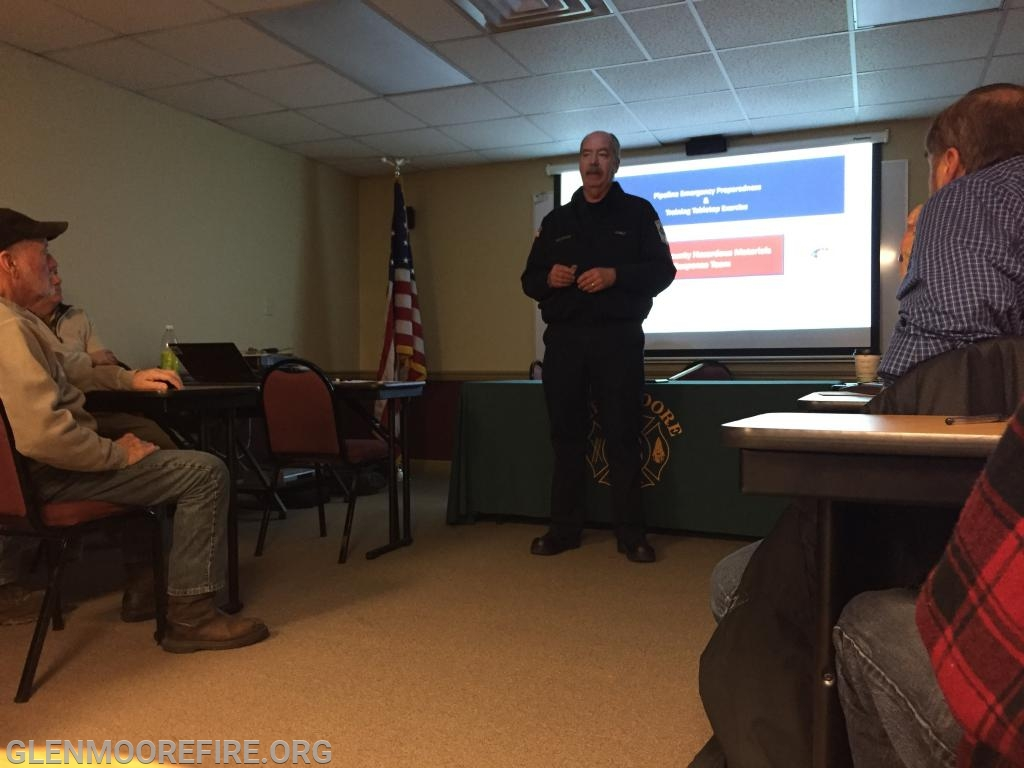 Frank J. Sullivan, Chief of the Chester County Haz Mat Team, presenting about the team.
